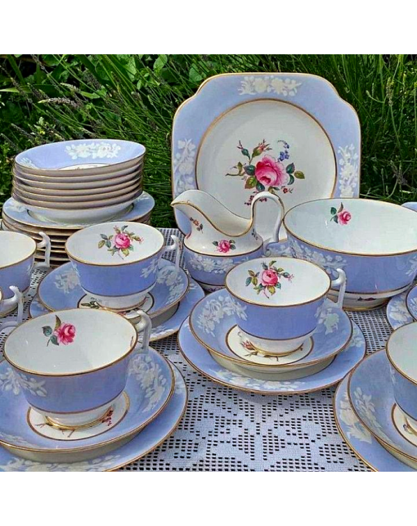 (OUT OF STOCK) SPODE MARITIME ROSE TEA SET